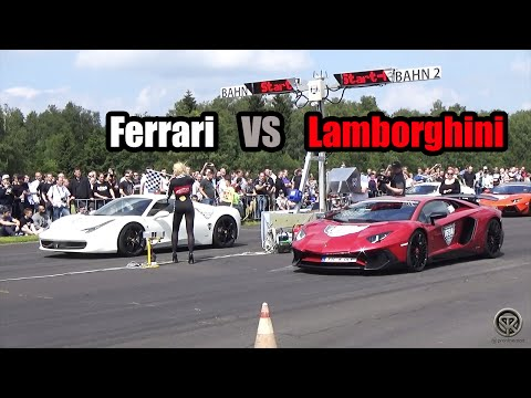 lamborghini aventador sv vs ferrari 458 italia drag race. Black Bedroom Furniture Sets. Home Design Ideas