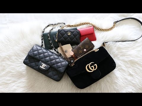 3cb3f399a CHANEL & GUCCI MINI COMPARISON || CHANEL MINI RECTANGLE || GUCCI VELVET  MARMONT MINI