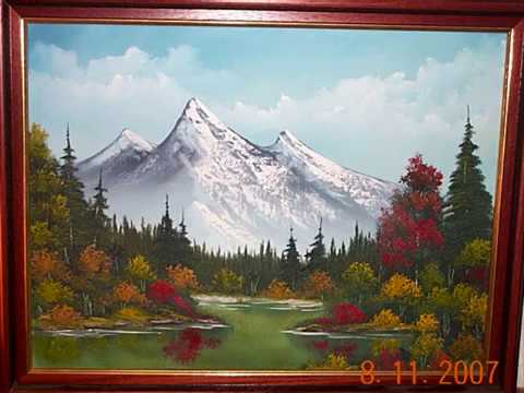 bob ross paintings by steve rees - YouTube