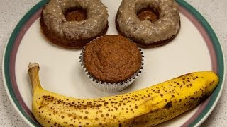Gluten Free Banana Doughnuts With Banana Icing (low Salt)