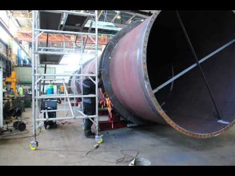 AIS Fabrication working on the fabrication of large Gas Pipes for Tata Steel