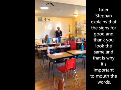 Living Wisdom School Sign Language class