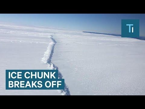Antarctica Pine Island Glacier loses ice chunk 4X the size of Manhattan