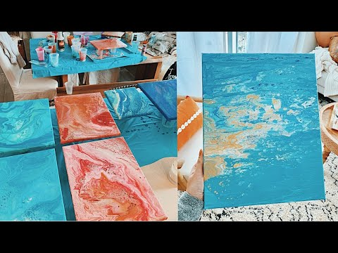 DIY FLUID ART - using $2 paint and dish soap | viviannnv