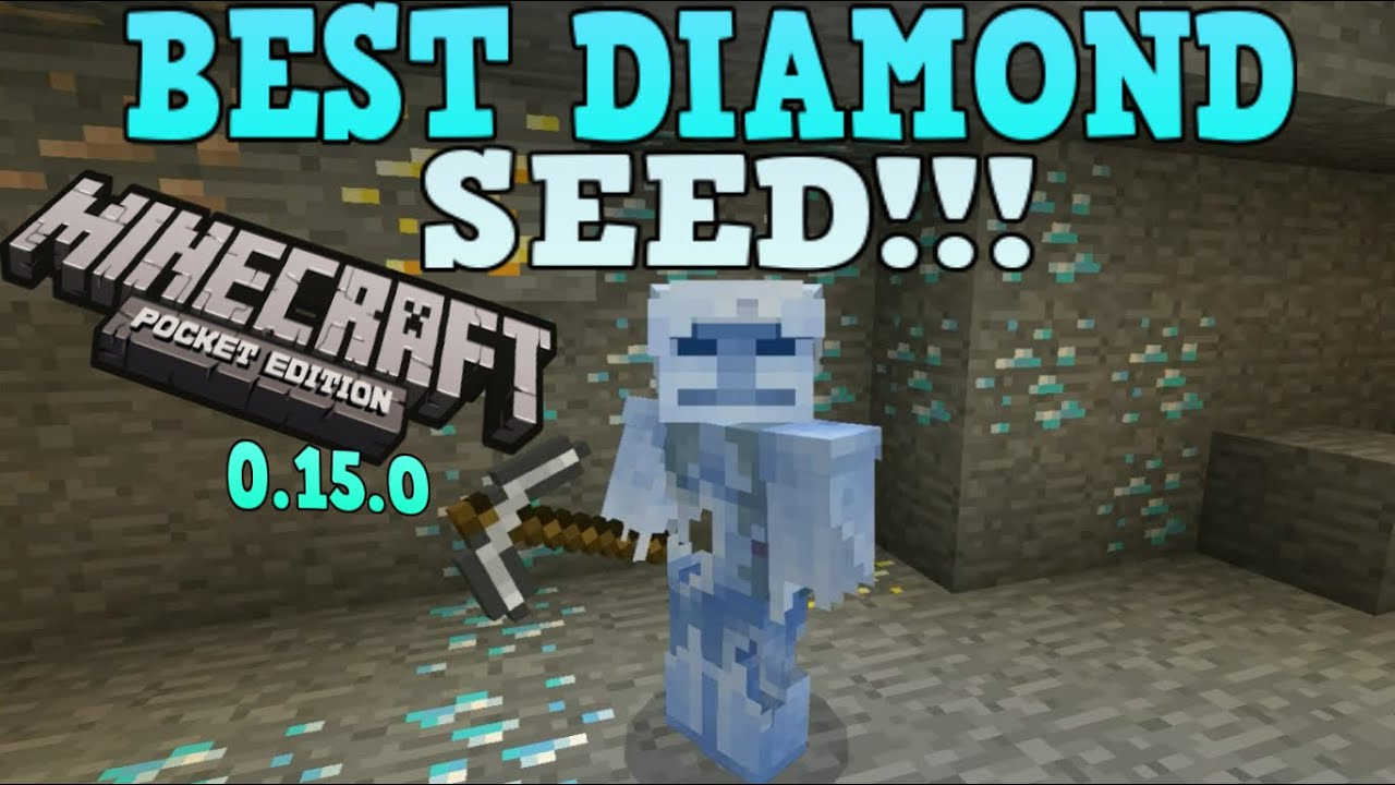 minecraft pe seeds with diamonds near spawn