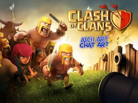 How to do Clash of Clans Ascii Art/Chat Art/Any App on IOS