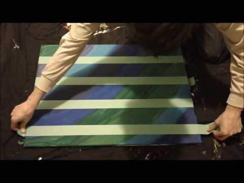 Abstract ZigZag Speed Painting