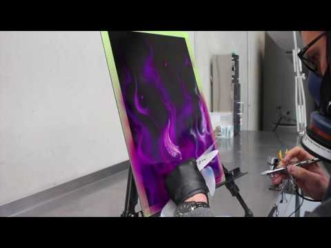 Pink And Violet Real Fire - Step By Step