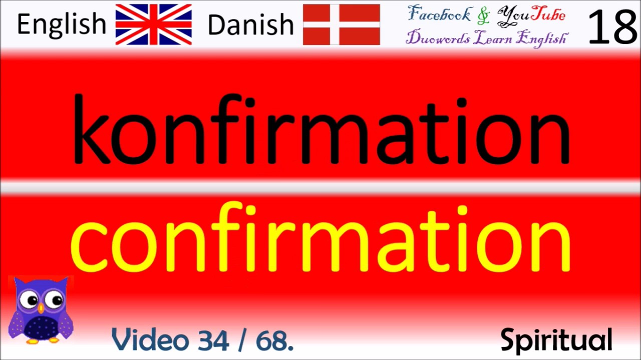 34 Spiritual Dansk - Engelsk Ord / Danish - English Words britiske midler