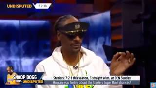 Snoop Dogg How are you feeling about the Steelers SB chances - Undisputed 11/21/18