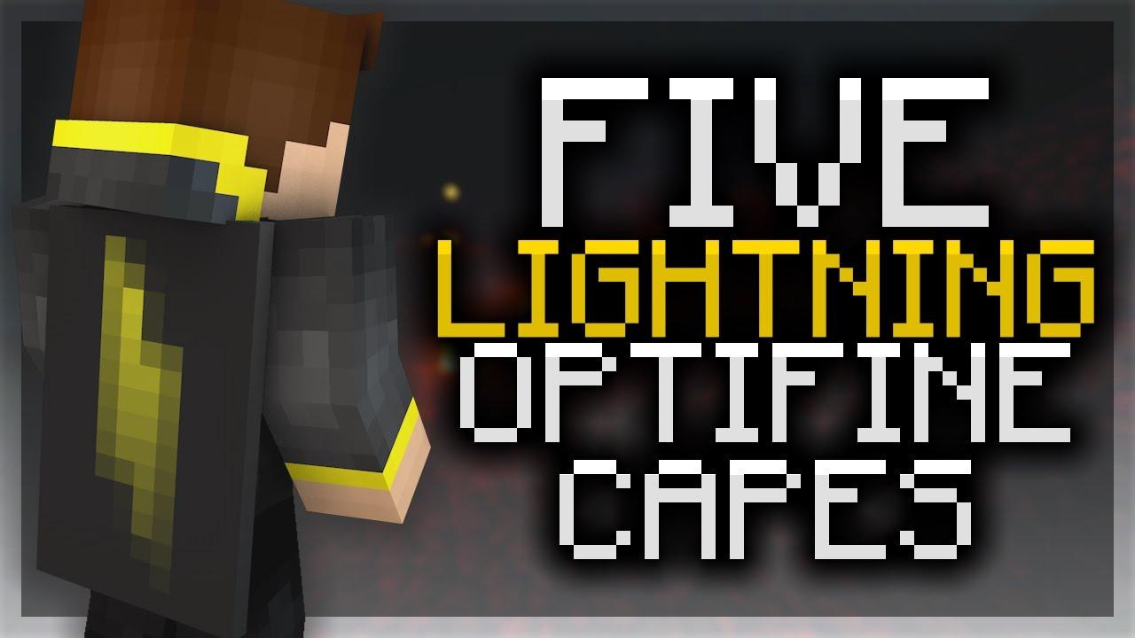 5 lightning optifine cape