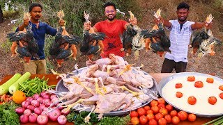 Traditional Country Chicken Sukka Recipe | Country Chicken Masala Fry with Sambar