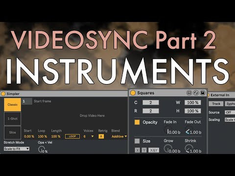 Videosync Tutorial Part 2 | Using Video Instruments in Ableton Live 10 thumbnail