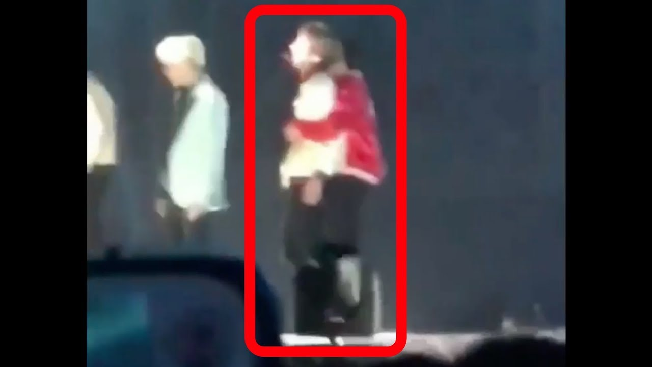 180125 Bts Jin Hugged Taehyung At The End Of Dna Performance At Seoul
