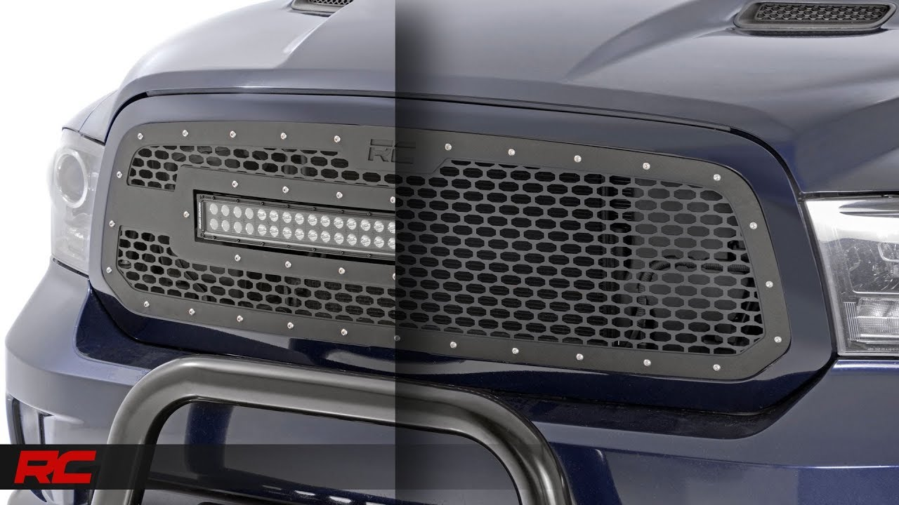 2013 2016 Ram 1500 Mesh Grille Kit By Rough Country Youtube