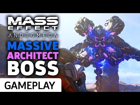 Mass Effect: Andromeda - Taking Down The Massive Architect Boss Gameplay