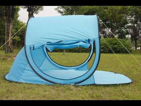huge blue pop up outdoor tent & huge blue pop up outdoor tent - YouTube