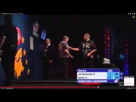 German Darts Championship Quarter-Finals Raymond van Barneveld v Ronnie Baxter