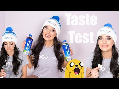 Not Sure If I'm Going To Like This... Zico Coconut Water Taste Test And Unboxing   Toria Serviss