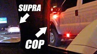 Sheriff Truck Watches Street Race... TROLLS Supra!