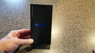 Samsung Note 8. Unboxing, first boot and first impression