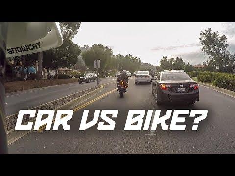 Who's at fault? Biker vs Car + Wheelie Time!