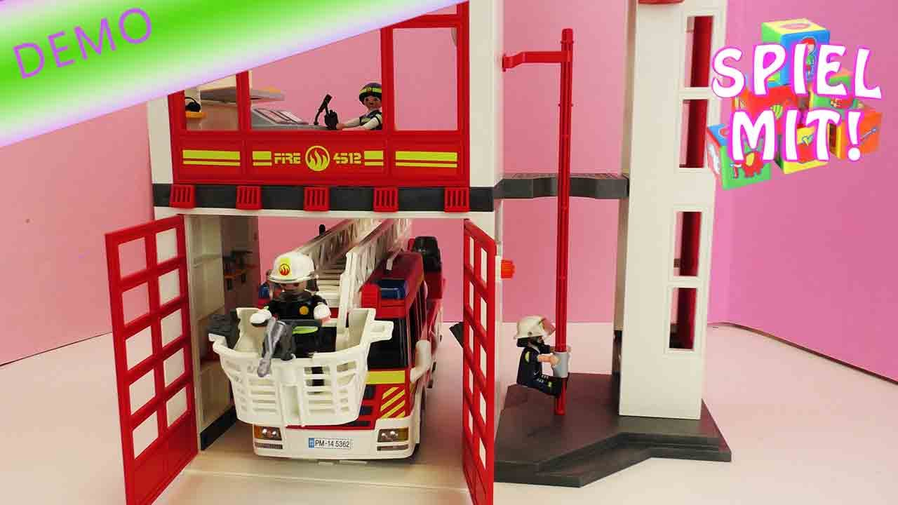 feuerwehr spielzeug deutsch playmobil feuerwehrstation. Black Bedroom Furniture Sets. Home Design Ideas