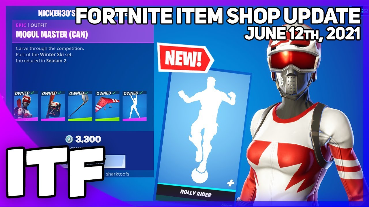 Fortnite Item Shop *NEW* ROLLY RIDER EMOTE + NICKEH30 BUNDLE! [June 12th, 2021] (Fortnite BR)