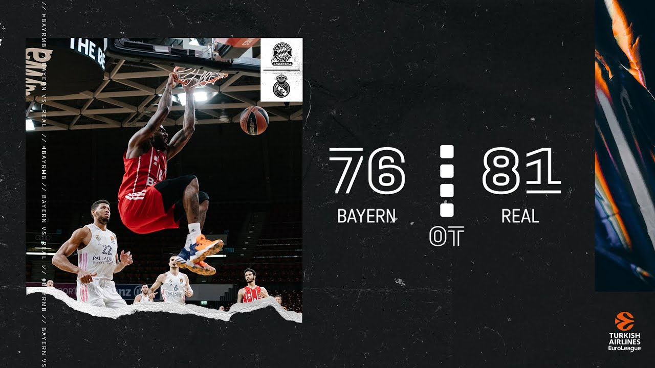 Bayern Highlights | FC Bayern Basketball vs. Real Madrid 76:81 OT | EuroLeague