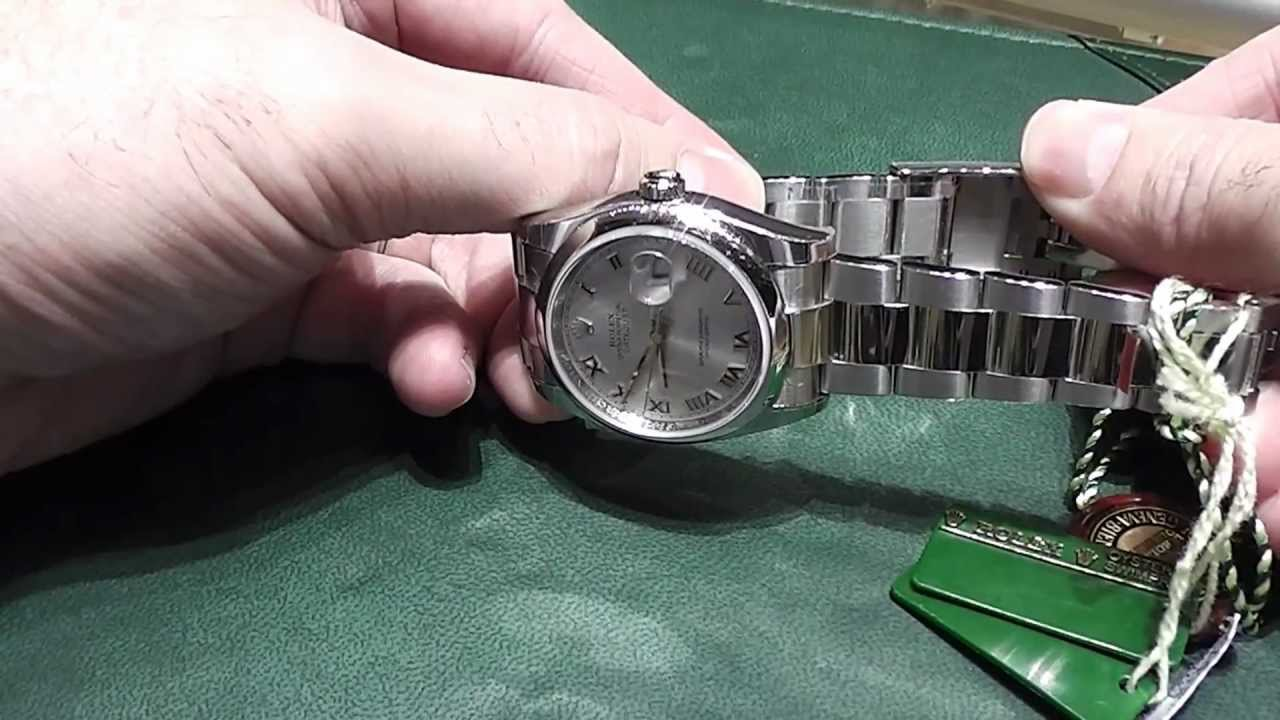 How To Adjust The Easy Link Clasp On Your Rolex Datejust Youtube