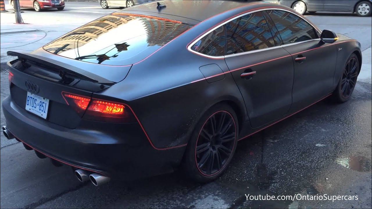 Tron Audi A LOUD Acceleration In Toronto YouTube - Audi toronto