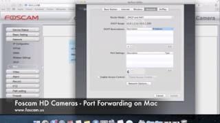 Foscam HD Cameras - Port Forwarding on Mac