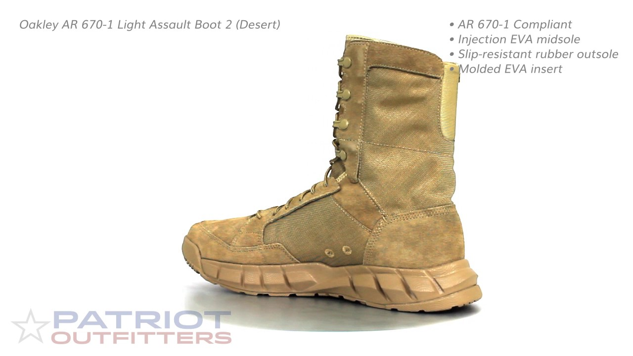 a82e0a6debd0 Oakley AR 670-1 Light Assault Boot 2 (Desert) - YouTube