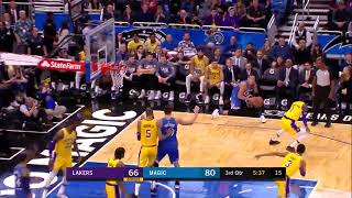 D.J. Augustin crosses Josh Hart up and then throws a behind-the-back to Aaron Gordon for the open 3
