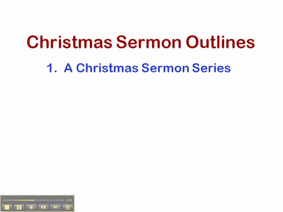 Christmas Sermon Outlines.Christmas Sermon Outlines