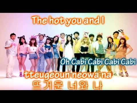 Girls' Generation & 2PM - Cabi Song ~ Lyrics on screen [Eng. || Rom. || Han.]