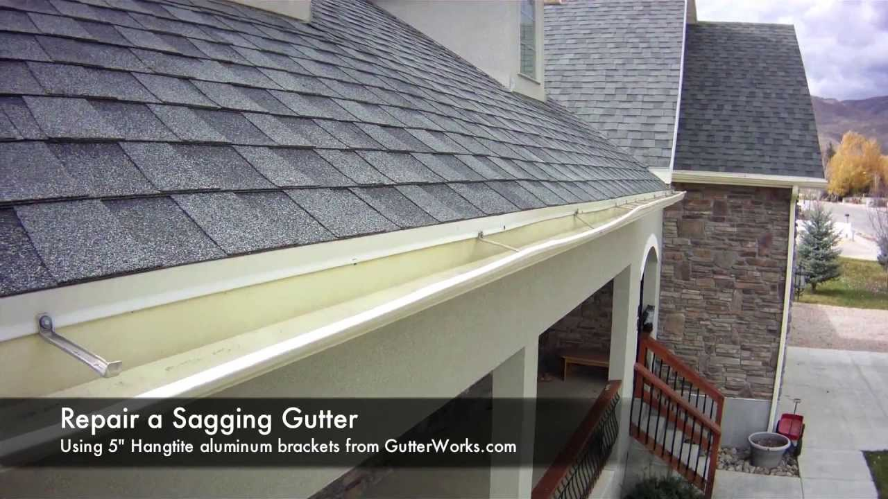 How To Repair A Saggy Gutter Youtube