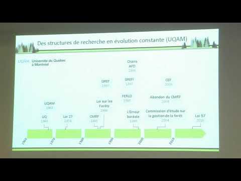 Le développement des sciences forestières dans le réseau de l'UQ
