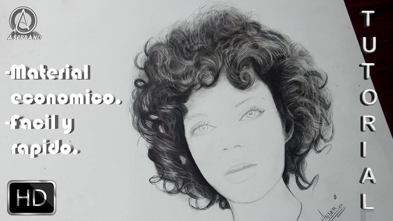 Cómo Dibujar Cabello Rizado Ondulado Chino A Lápiz Tutorial
