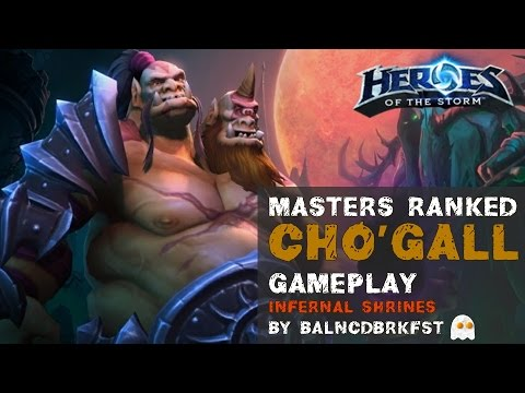 Heroes of the Storm Ranked Gameplay Cho'gall Sustain Bruiser Build - Infernal Shrines
