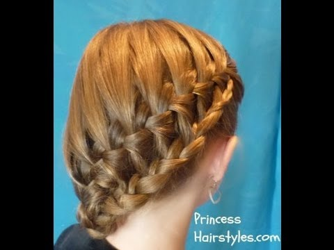 Stacked Waterfall Braid Side Ponytail Hairstyle For School - YouTube
