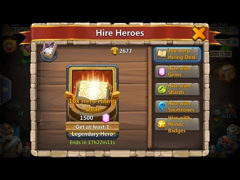10x Hero Hiring Deal Vs Only 150 Gems Rolling And Mix 150 & 450 Gems Rolling Castle Clash