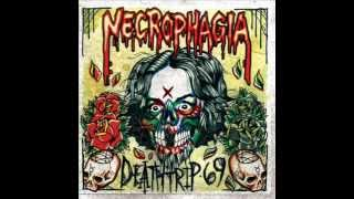 "NECROPHAGIA   "" Suffering Comes In Sixes "" lyrics included"