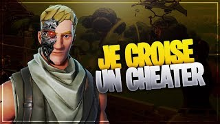 I CROSS A CHEATER IL AIMBOT ALL PLAYERS ON FORTNITE BATTLE ROYALE
