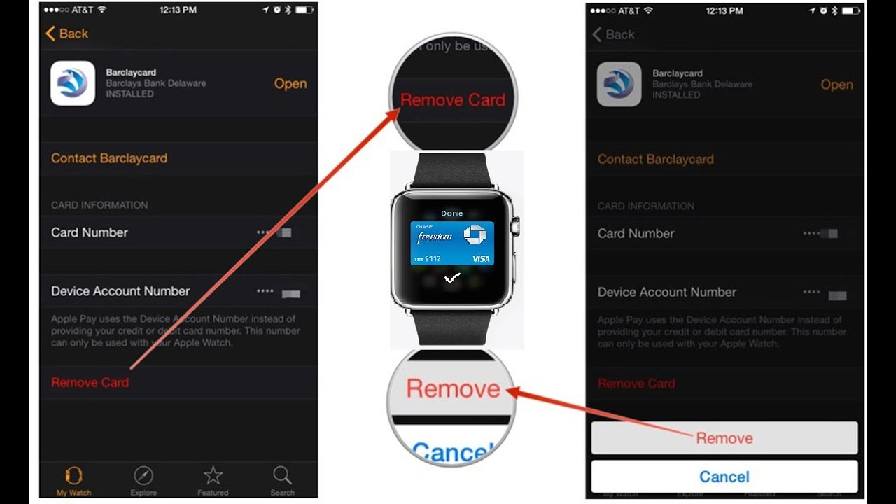 how to remove card from iphone apple pay on apple watch youtube