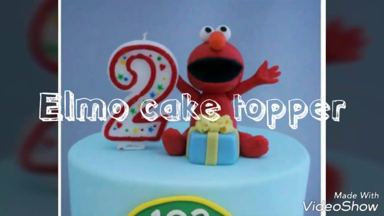 How To Make Elmo Cake Topper