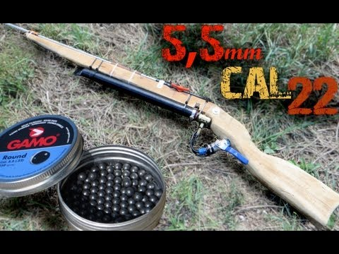 ᴴᴰ Homemade Air gun shooting to all kinds of things [ 5 5 mm ,cal