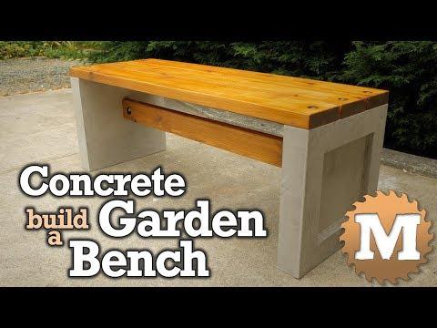 make a Concrete and Wood Garden Bench