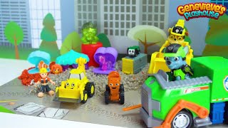 Surprise Toys for Kids Bob the Builder Construction Site with Paw Patrol Pups Rocky and Rubble!