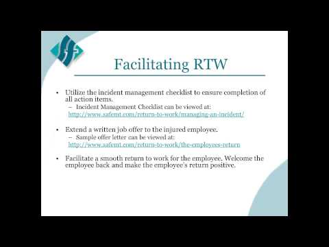 Implementing a Return to Work Program Webinar